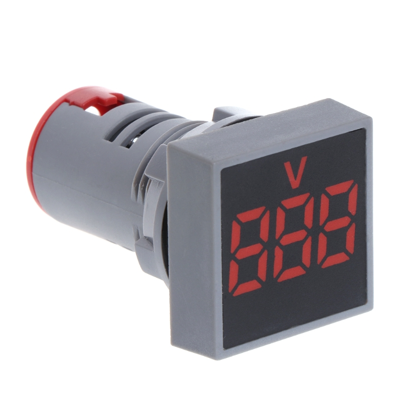 22MM AC 12-500V Voltmeter Square Panel LED Digital Voltage Meter Indicator Light analogue dc 500v voltage panel meter white