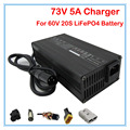 360W 60V 5A LiFePO4 Battery Charger 73V 5A Charger XLRM Port 73V LiFePO4 Charger Used for 60V 20S  LFP LiFePO4 battery pack
