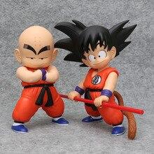Dragon Ball Z Goku Kuririn фигурка Драконий жемчуг сон gokou Krillin из ПВХ Коллекция фигурок игрушки для Рождественский подарок brinquedos