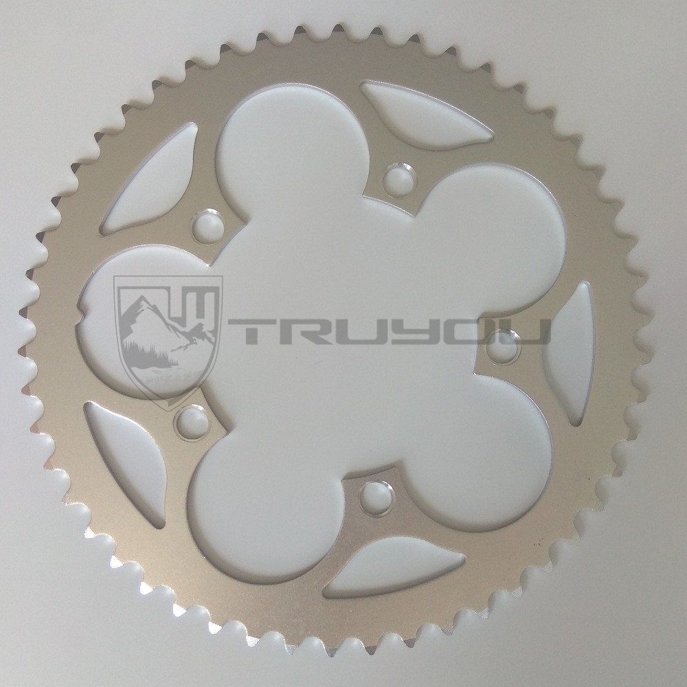 цена на TRUYOU Chain Wheel Road Bicycles Parts Crankset Bicycle Chainring 110BCD 34T 36T 38T 39T 42T 48T 50T 53T CNC Silvery Chain Rings