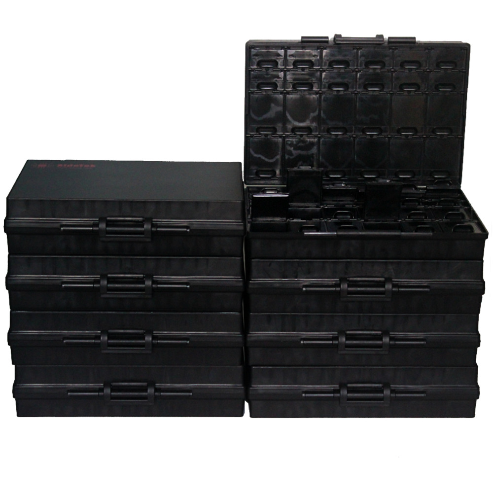 AideTek 8BOX-ALL-48 ESD safe Enclosure for surface mount components 1206 0805 0603 0402 0201 chips diodes transistor 8BOXALL48AS aidetek 4 units of box all 144 enclosure for surface mount components 1206 0805 0603 0402 0201 size plastic part box 4boxall