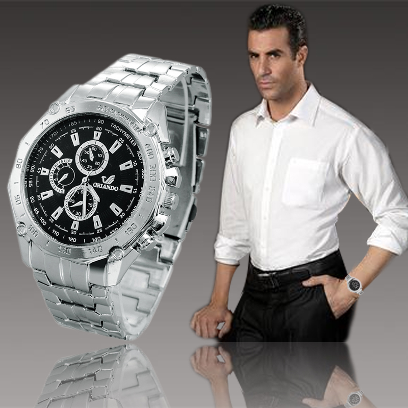 2018 New Quartz Watches Men Luxury Brand Orlando Colors Stainless Steel Business Clock Gentlemen Casual And Fashion Wristwatch