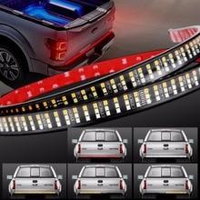 60 «Тройной 3-РЯД светодиодный световая балка на задний борт с янтарем сигнала поворота, красный тормоз/бег, белый Фары заднего хода