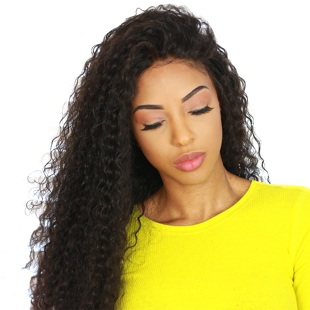 13x6 Lace Front Wig 150% Density Curly Lace Front Human Hair Wigs For Women Brazilian Virgin Hair Wig Natural Black Sunny Queen