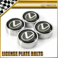 Car-styling Chrome Round Number License Plate Bolt Bolts Universal Fitment For Lexus