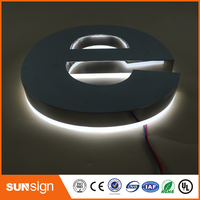 outdoor shopping decoration mall acrylic LED backlit sign letters