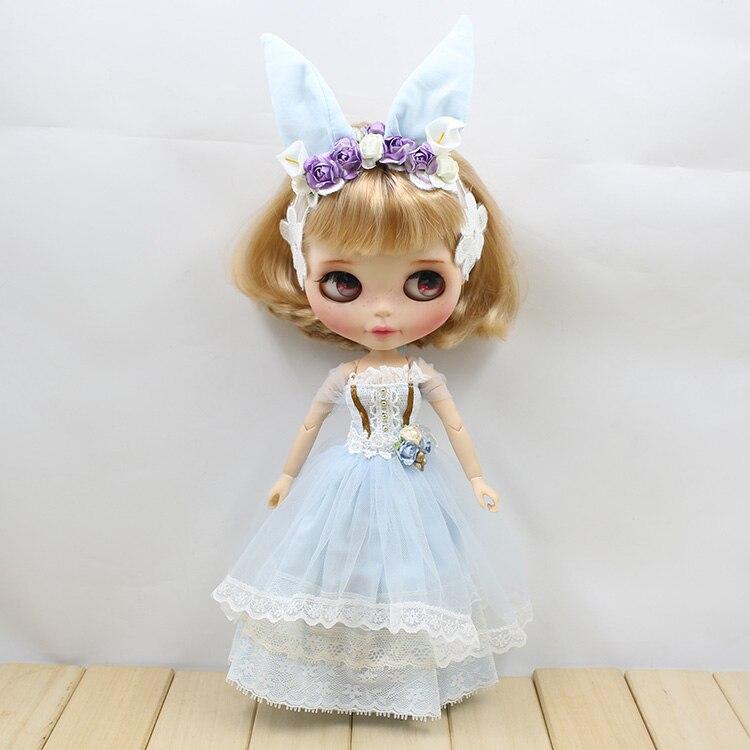 Neo Blythe Doll Wedding Dress With Rabbit Headdress 6