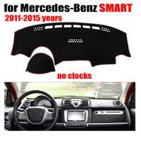 Car dashboard covers mat for Mercedes Benz SMART 2011 2015 no clock Left hand drive dashmat pad dash cover auto accessories