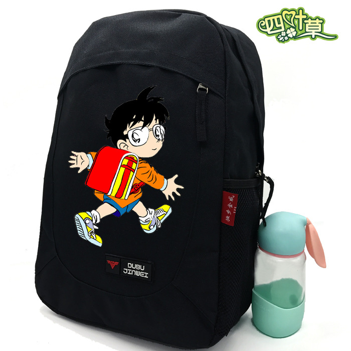 Detective Conan Anime Backpacks COSPLAY Conan Edogawa Campus male and female students casual fashion travel canvas backpack