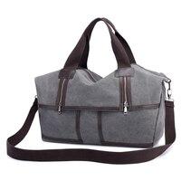 New design Korean style canvas travel bag big capacity casual shoulder bag 1336