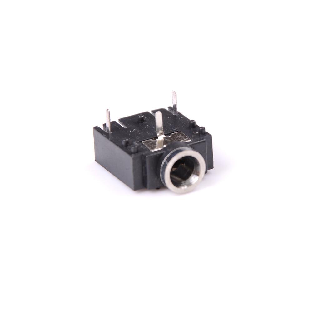 ZLinKJ 10 Pcs 3 Pin 3.5mm PCB Mount Female Stereo Jack Socket Connector