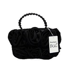 Image 5 - Женский атласный клатч Boutique De FGG, красный цветок Роза Буш, вечерняя бисерный кошелек с ручкой, свадебная сумка