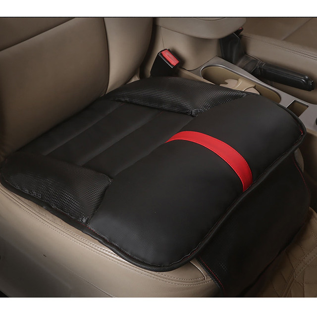Nice Bottom Push Up Ocks Car Front Seat Cushion Pu Leather Ock Mage Chair Pad Office Seats Cover Styling