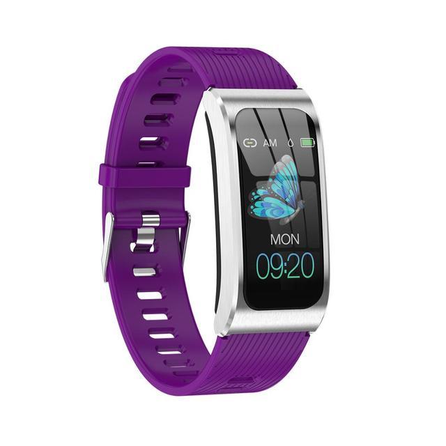 "AK12 women smart watch 1.14"" IP68 waterproof heart rate stopwatch alarm clock fitness tracker swim watches PK X3 S2 Android IOS"