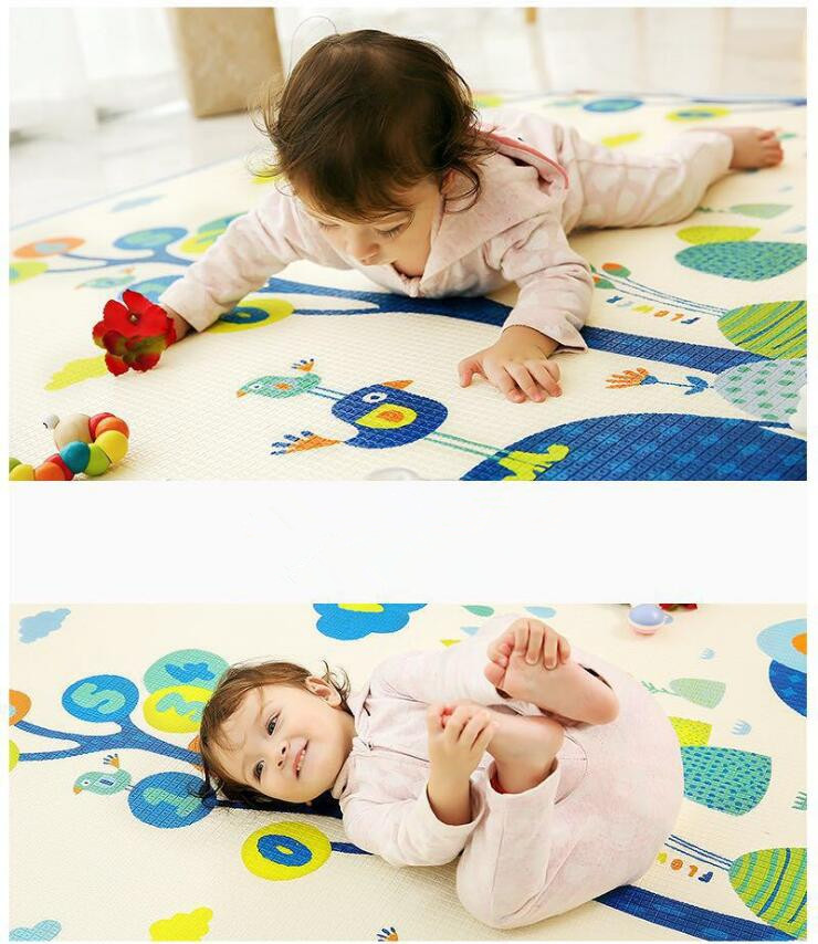 Tapis de jeu rampant pour bébé épaissir la Protection de l'environnement tapis de mousse pour enfants couverture de jeu humidité XPE bébé tapis d'escalade cadeaux - 4