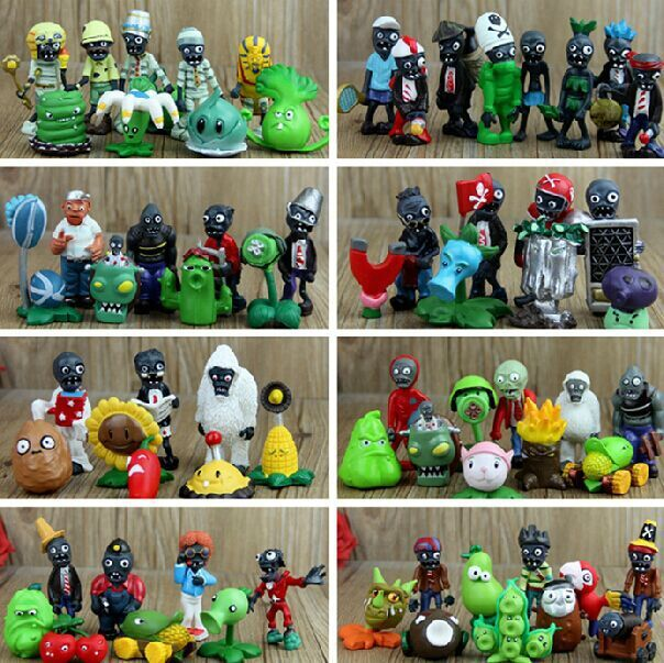 90 Styles PVZ Plants vs Zombies PVC Figure Toys Collection Toys For Children 3-8cm Free Shipping