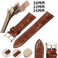 20mm 22mm 24mm Genuine Leather Watchbands Black Brown Strap for Man and Women Top Quality Accessories Belts for Boys and Girls