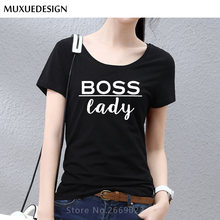 b2550601a 2018 boss lady Letters Print Women tshirt Cotton Casual Funny t shirt For Lady  Top Tee Short sleeve Free Shipping MX3561556