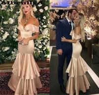 Mbcullyd Gorgeous Mermaid Long Bridesmaid Dresses 2019 Champange Elastic Satin Dress for Wedding Party vestido madrinha