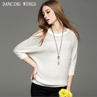 European Style Women S Hollow Out Bat Sleeve Knitted Shirt Spring Summer Thin Pullovers Women Sweater