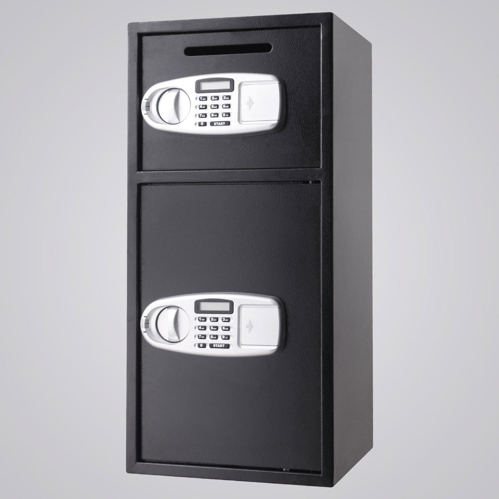 Double Door Safe BoxStrong Iron Larger Digital Keypad Safe Lock Money Jewelry