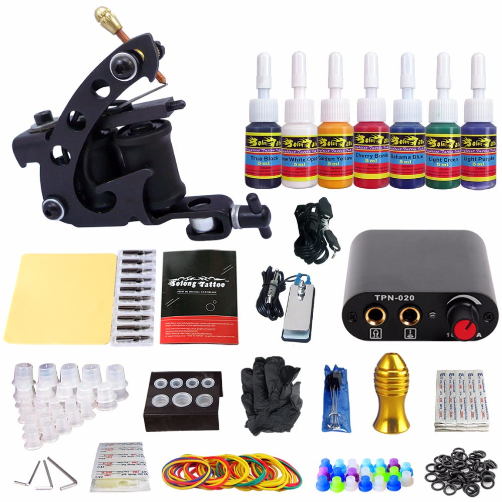 Stigma Tattoo Sets 1 Machine for Beginer 7 Inks TK105-2 10 0 16050 50 preciosa