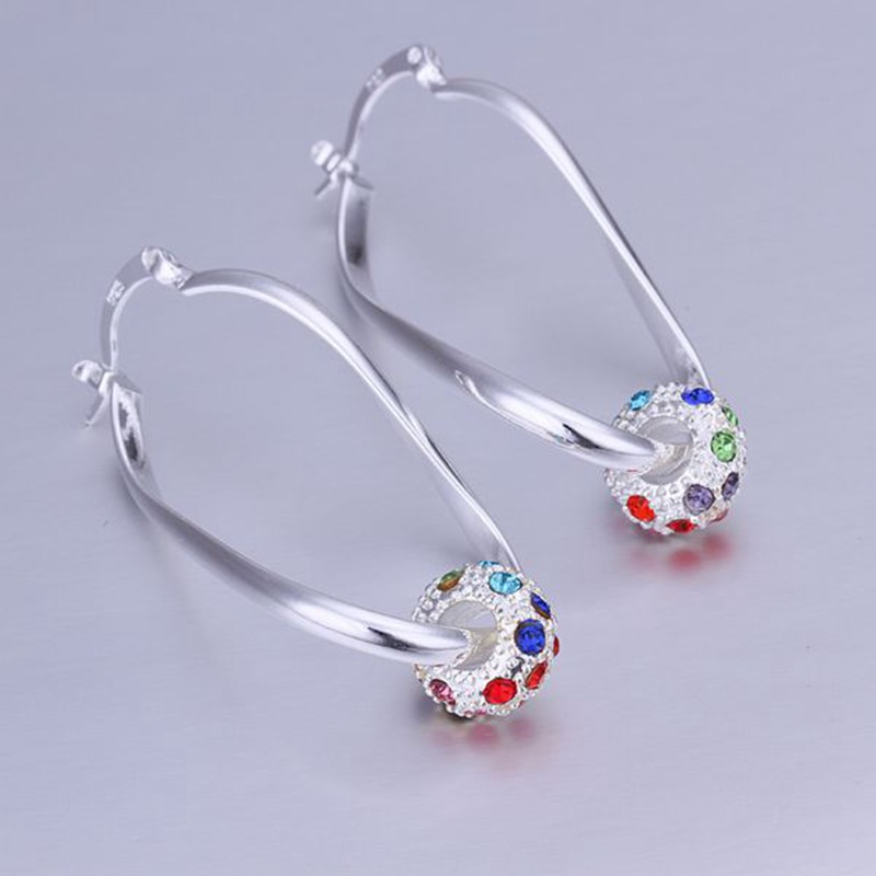 fashion jewelry Earring For Women, Silver Plated Earrings inlaid Color Earrings E245 /FYVIWXBZ KVUEUONW