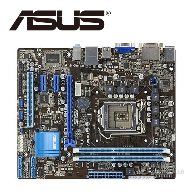 Asus P8H61-M LE/USB3 Desktop Motherboard H61 Socket LGA 1155 i3 i5 i7 DDR3 16G uATX UEFI BIOS Original Used Mainboard On Sale asus p8b75 m lx desktop motherboard b75 socket lga 1155 i3 i5 i7 ddr3 16g uatx uefi bios original used mainboard on sale