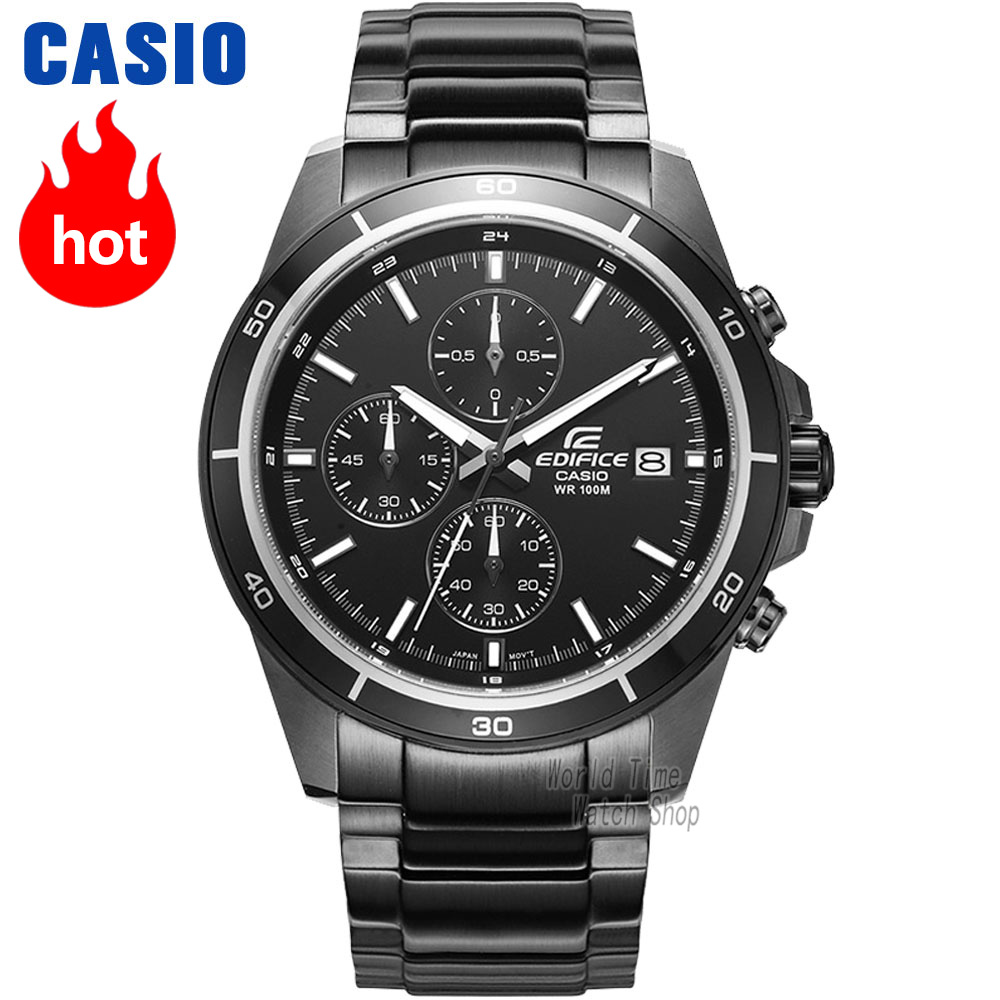Casio watch Edifice Men's Quartz Sports Watch Timing Waterproof Racing car Pointer Watch EFR-526 цена и фото