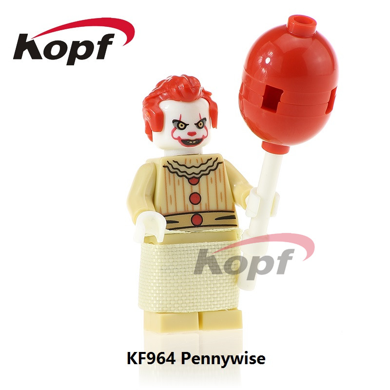 Building Blocks Super Heroes The Clown Pennywise Redux Joker Ronald McDonald Model Bricks Collection Toys for children KF964 wange mechanical application of the crown gear model building blocks for children the pulley scientific learning education toys