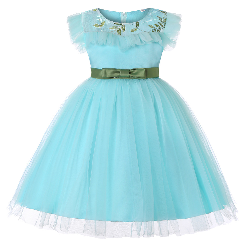 3-14 Yrs Teenagers Girls Dress Wedding Party Princess Dresses for Girl Party Costume Kids Cotton Party Girls Clothing CA604