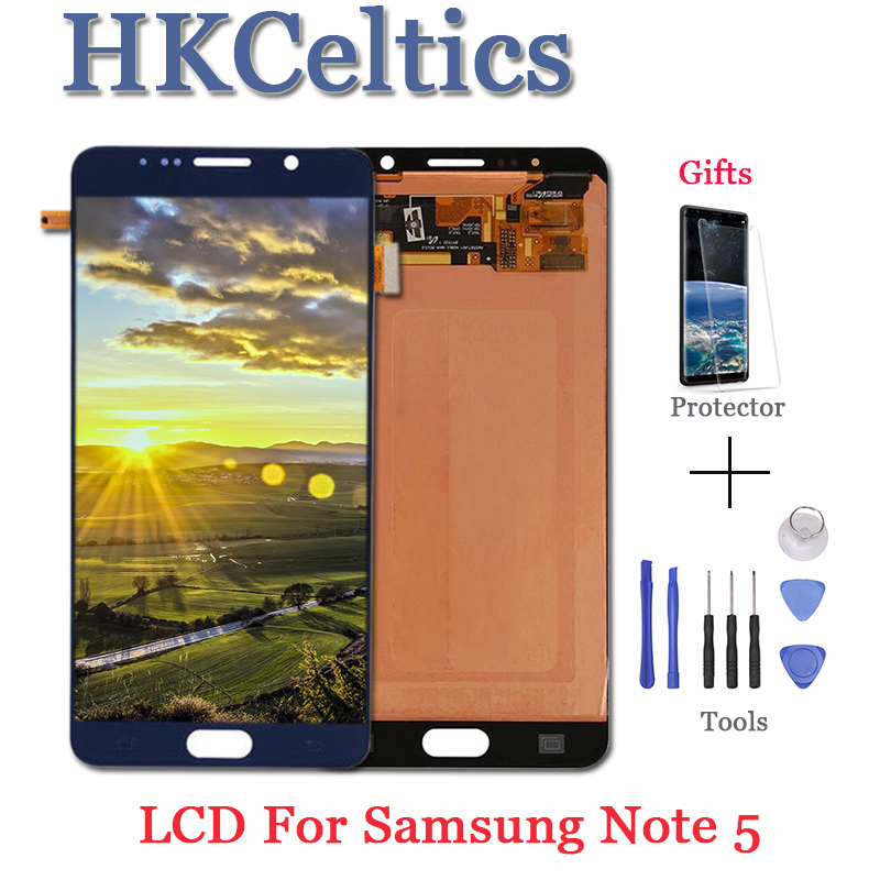 5.7 inches LCD Display and Touch Screen Assembly For Samsung Galaxy Note 5 N9200 N920T N920A N920I N920G lcd Repair Spare Parts