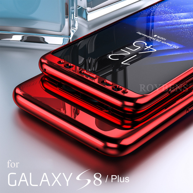 Roybens For Galaxy Note 8 Case Luxury Mirror 360 Ultra Thin Full Protection Case For Samsung Galaxy S8 Plus S7 Edge S9 S9+ Cover 2