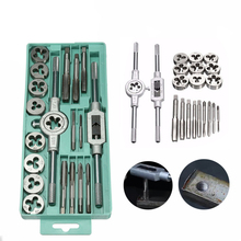 20pcs Alloy Steel Tap & Die Set with Small Tap Twisted Hand Tools and 1/16-1/2 Inch NC Screw Thread Plugs Taps Hand Screw Taps of 1pc alloy steel made un 1 9 16 18 die threading tools lathe model engineer thread maker