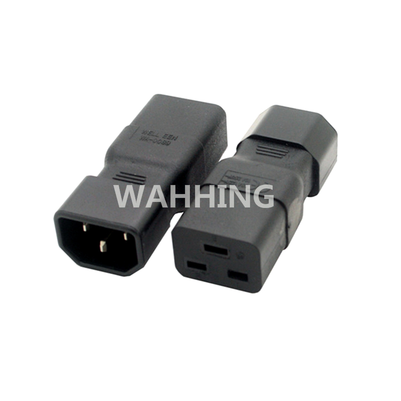 Universal Power Adapter IEC 320 C14 to C19 Adapter Converter C19 to C14 AC Power Plug Socket 3 Pin IEC320 C14 Connector HY1097 free shipping iec 320 c14 to saa australia 3 pin female power adapter for pdu ups ac plug converter wpt604 page 1