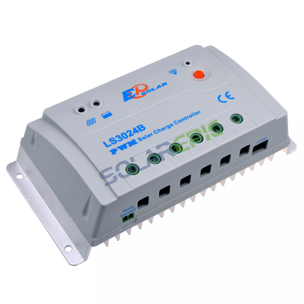30A Epever LandStar PWM Common Positive Solar Charge Controller 12V 24V LS3024B RS485 Modbus Battery Temperature