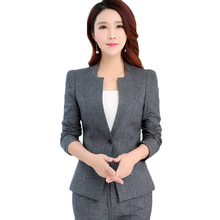 3XL Pant suits for women 2018 spring autumn fashion temperament office