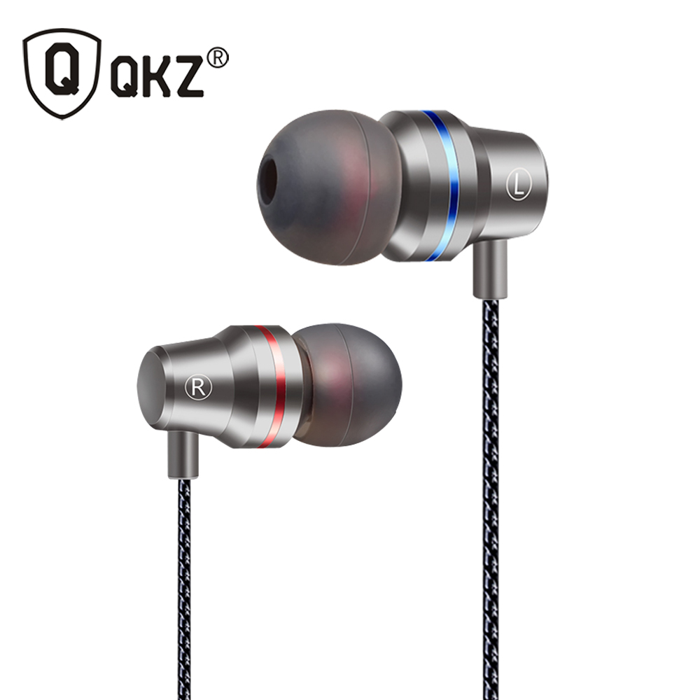 Earphones QKZ DM1  Clear Bass Earphone With Microphone In-Ear Earphone Special Edition Headset Earphones3 Colors fone de ouvido earphones qkz dm2 original earphone good quality professional headset with microphone for mobile phone iphone fone de ouvido