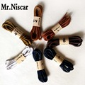 Mr.Niscar 5 Pair Round Cotton Waxed Shoelaces Paisley Waterproof Waxed Shoe Laces Boots Bootlaces Doug Shoes Shoestrings Wax