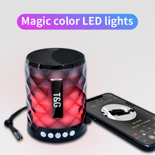 TG155 Bluetooth 4.2 Mini Portable Wireless Loudspeaker with Colorful Lights Music Bass Hi-Fi Audio