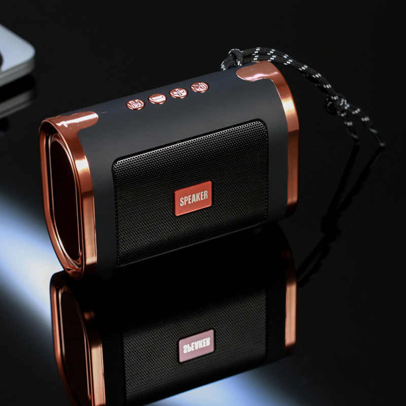 Bluetooth Speaker HI-FI 4.0 Plated Gold Outdoor Box TF Card Aux Connect Portable Loudspeaker Wireless Hnadsfree Call Subwoofer