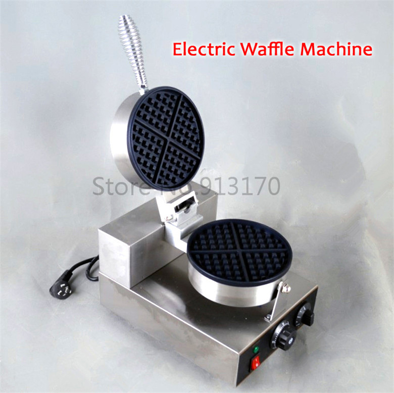 Free Shipping Commercial Electric Waffle Machine Commercial Waffle Maker Kitchen Appliance Non-stick Waffle Pan