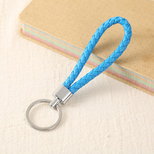 Handwork Weave Leather Keychain Cute Baubles Accessories For Bags Ring Multicolor Simple Car  YS-314