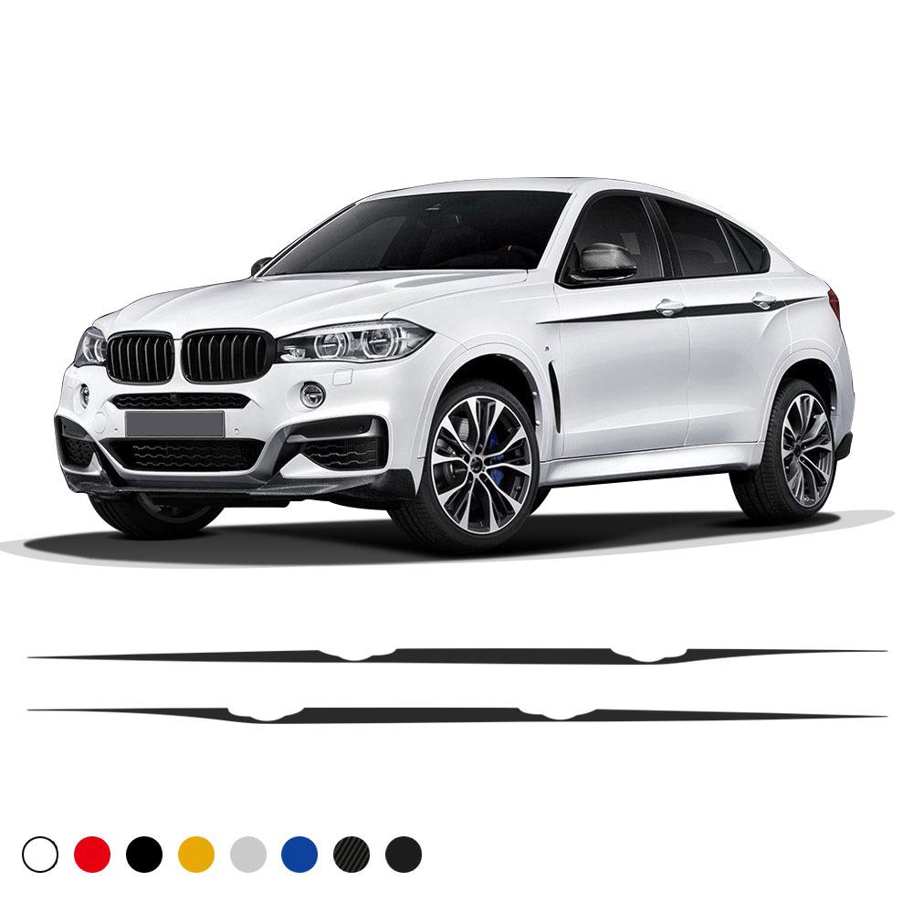 BMW X Series >> 1set Auto Waist Line Car Sticker Vinyl Racing Stripe Decal For Bmw X Series Suv X5 X6 Sport Car Accessories