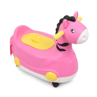 Baby Infant Potty Chair Child Toilet Training Seat PP with Wheels for Boys Girls