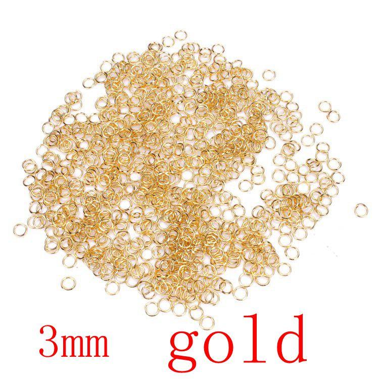 200pcs/lot 3mm metal DIY Jewelry Findings Open Jump Rings & Split Ring for jewelry making