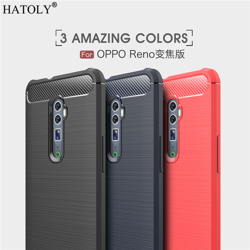 Cover OPPO Reno 10X Zoom Case Business Style Soft Silicone Rubber Phone for