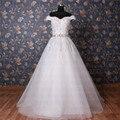 Envío gratis Real Photo De encaje fuera De hombro Vestidos marco moldeado Vestidos De Novia sin mangas vestido De boda por encargo