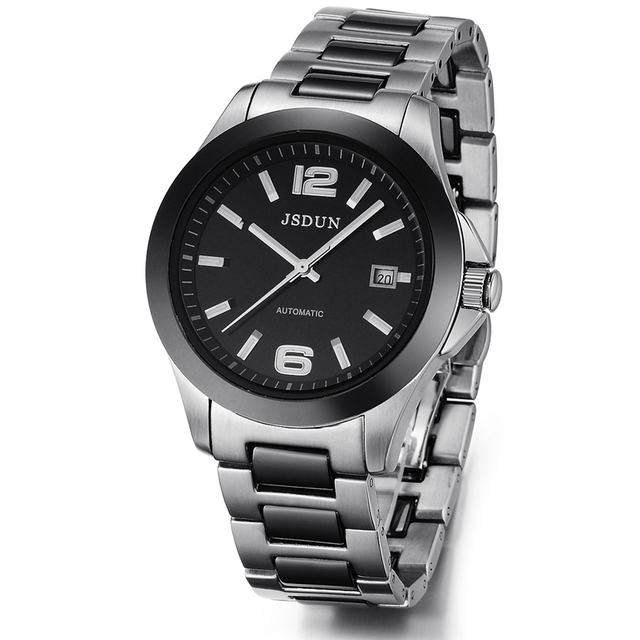 Watch fully-automatic mechanical watch steel strip ceramic male watch men's waterproof watch
