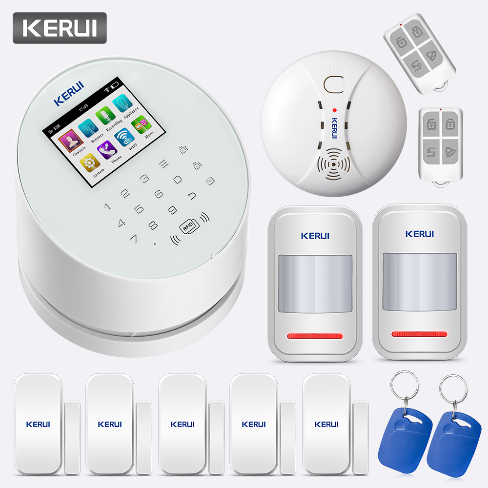 KERUI W2 2.4 Inch TFT Color Screen 433MHz Wireless Frequency GSM 850/900/1800/1900MHz Wifi Home Security Security Alarm System